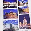 《蓝天白云数格子》明信片上市了