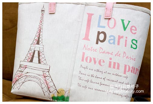 Love in Paris Zipper tote bag