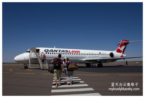 Qantas Airways : Darwin (DRW)- Alice Springs (ASP) -Ayers Rock (AYQ