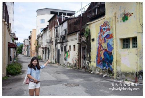 怡保旅游:怡保后巷壁画 + 彩虹老店
