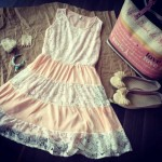 Whitesoot:Sugar Sweet Tiered Lace Dress