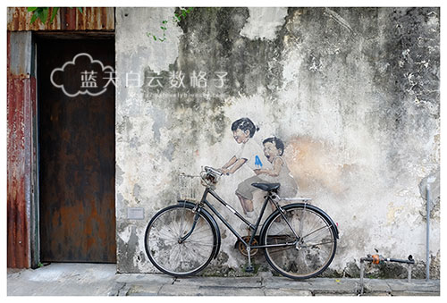 《姐弟共骑》壁画