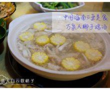 中国海南岛三亚美食   龙泉人椰子鸡汤