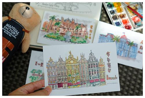 Gogoprint Malaysia : 《跟着蓝天白云去旅行》手绘明信片