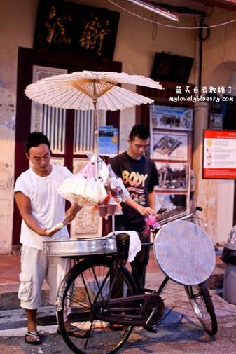 马来西亚老行业叮叮糖在槟城庙会