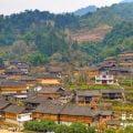 桂林景点:金车梯田百年壮寨