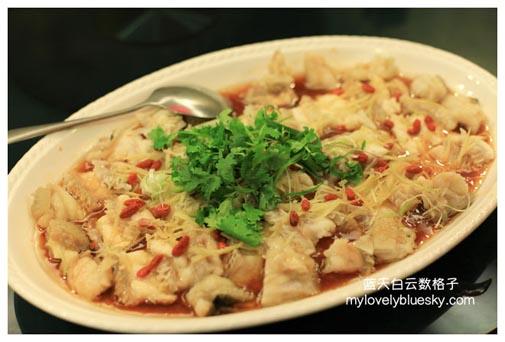 杞香姜酒蒸龙趸鱼