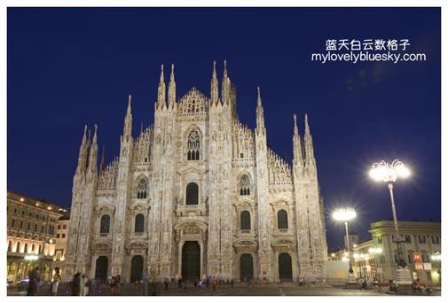 Duomo米兰大教堂夜景