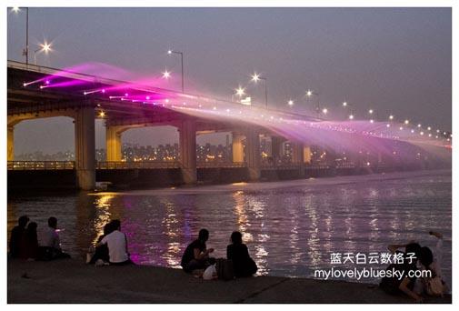 Banpo Hangang Park (Rainbow Fountain) 盘浦大桥月光彩虹喷泉