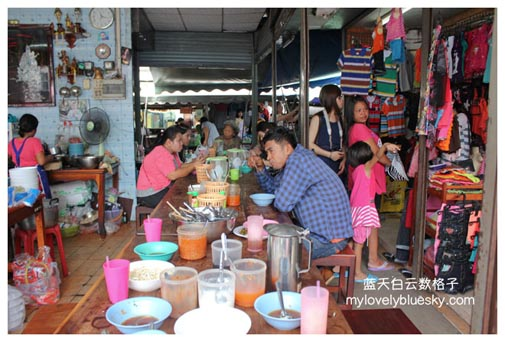 Maeklong Railway Market 猪脚饭和粿汁