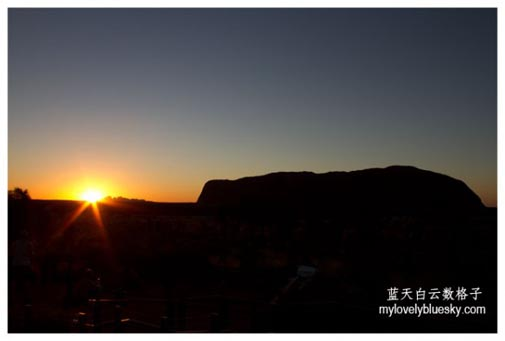 Watch the sunset over Uluru
