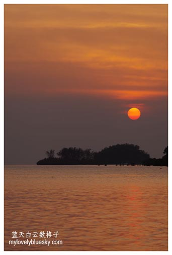 Sunset at Putri Island