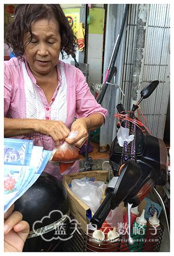 北海美食:驾摩多卖传统火炭蒸鱼丸