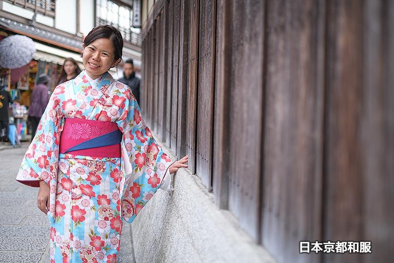 日本京都穿和服