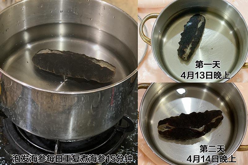 泡发海参 - 一锅净水