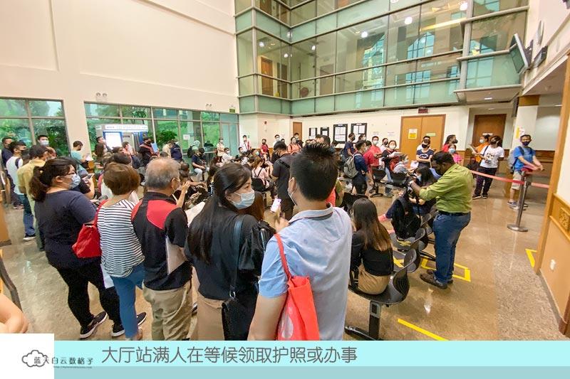 马来西亚大使馆人潮拥挤