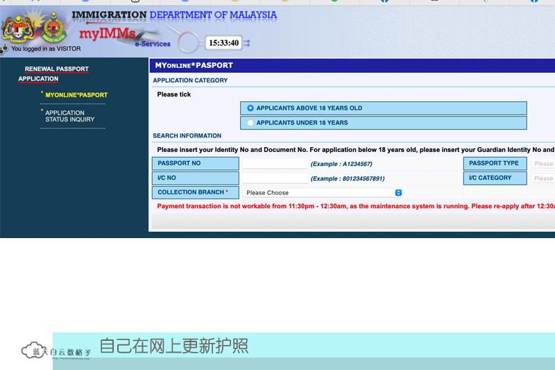 网上更新护照